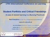 Student Portfolio and Critical Friendship - Rui Gonçalves