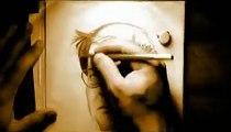 speed painting Mahmoud Darwish رسم الشاعر الفلسطيني محمود درويش