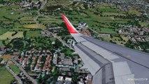Air Berlin A320 Landing Luton FS9