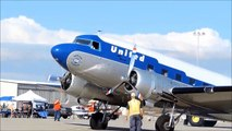 Clay Lacy Douglas DC-3 United Airlines & Palm Springs Air Museum C-47 At 2013 Camarillo Airshow