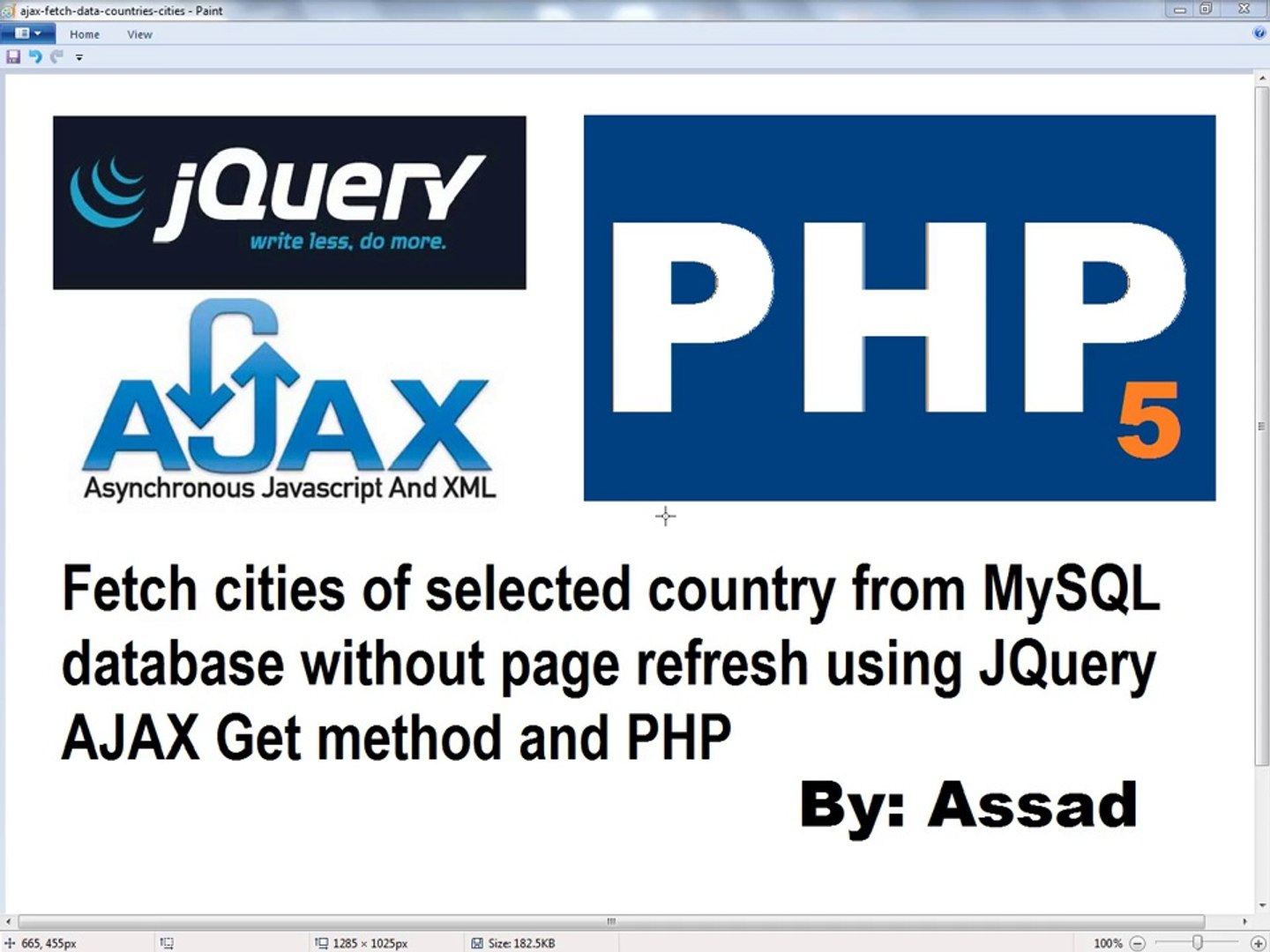 Fetch Data From MySQL on selecting an option Using jQuery