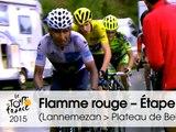 Flamme Rouge - Le dernier kilomètre - Étape 12 (Lannemezan > Plateau de Beille) - Tour de France 2015