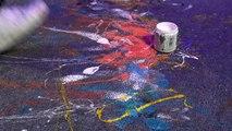 Upside Down Speed Painting: Speed Painter & Entertainer Tim Decker