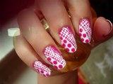 Lace/Polka dots Nail Design