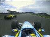 2004 British GP- Fernando Alonso, Michael Schumacher