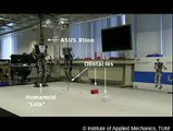 Humanoid Robot LOLA detects obstacles with a Kinect-like sensor