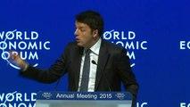 Davos 2015 - Italian Prime Minister Matteo Renzi at Davos 2015