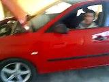 seat ibiza con filtro de alto flujo/seat ibiza with air filter