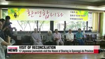Japanese journalists visit 'comfort women' shelter
