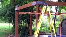 How to build a Gazebo. DIY Timber Frame Wood back yard Gazebo. Simple woodwork Pergola & Round