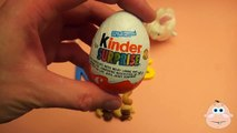 Kinder Surprise Egg Learn-A-Word! Spelling Food Lesson N (Teaching Letters Opening Eggs & Toys)