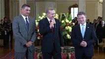 Recep Tayyip Erdoğan Kolombiyada Mondragon ile Karşılaşması