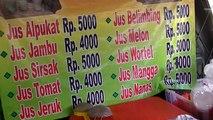Jakarta Street Food 302 Favourite  Cirebon Juice Jus Cirebon Paporit making Dragon Fruit Juice