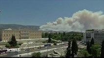 Des incendies font rage en Grèce