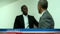 President Obama meets Usain Bolt