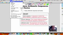 12.2 Analyze Arithmetic Sequences & Series