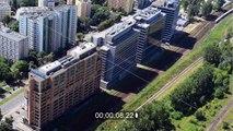 """Gebäudekomplex """" Nimbus , Equator und Brama Zachodnia """" in Warschau in Polen"""