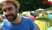 Au camping des Vieilles Charrues, même pas peur de la pluie