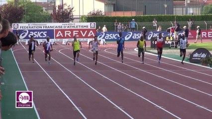 Finale 100 m Juniors Garçons