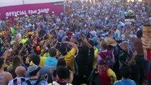 Argentinos y Brasileños frente a frente en un duelo de hinchadas
