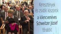 Keresztények és zsidók köszöntik a 90 éves Schweitzer József főrabbit