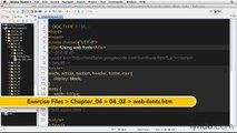 How to get web fonts with @font-face | lynda.com tutorial