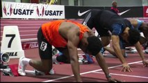 Mens 60m Hurdles Final - USA Indoor Track and Field Championships 2014