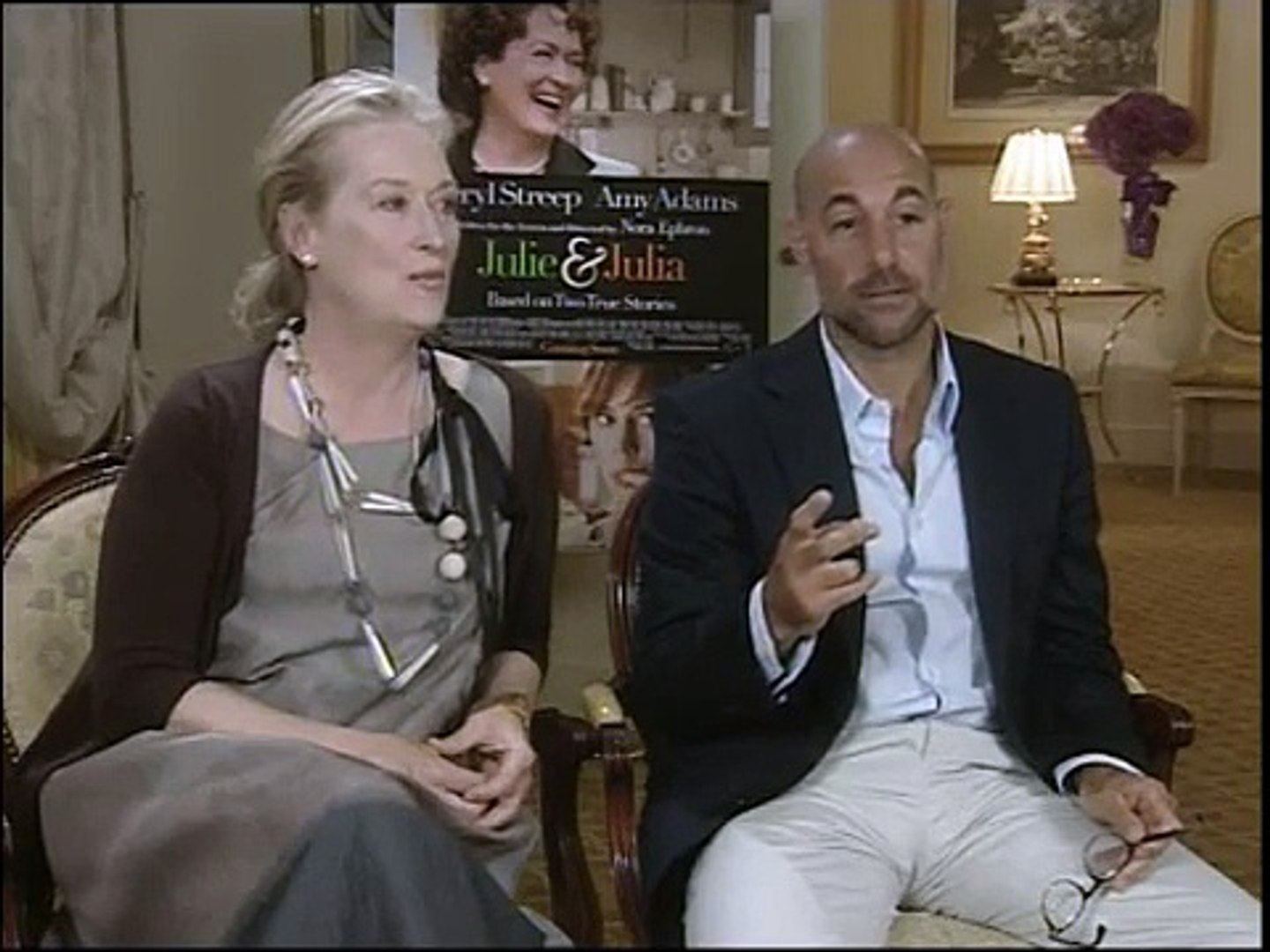 Meryl Streep & Stanley Tucci - Telecinco Interview