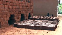 Mud Brick Making - Mud Bricks are made locally everywhere in Tanzania
