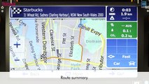 Australia iGO Primo GPS software with NAVTEQ map operating on Tunez aftermarket Toyota head unit