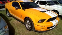 2007 Ford Mustang Shelby GT500 and 2008 Ford Mustang Bullitt at the 2010 Daytona Turkey Rod Run