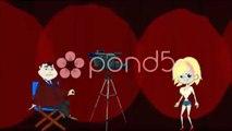 Directing the Dance (Cartoon Animation). Stock Footage