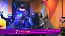 Eurovision 2006 Semi-final, The 10 qualifiers [With Finnish Commentary]