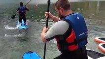 Rugby - Tignes : Debaty, la leçon de paddle