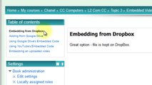 Embedding video from DropBox - Welcom Moodle 2.3