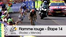 Flamme rouge / Last KM - Étape 14 (Rodez > Mende) - Tour de France 2015