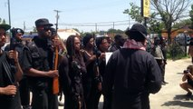 Huey P. Newton Gun Club and Black Panthers march on MLK Blvd.
