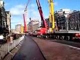 Amsterdam, Rokin op zondag afgesloten voor het verkeer