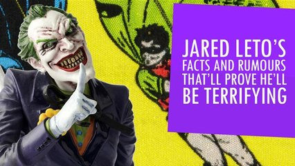Jared Leto's; Facts And Rumours That Prove He'll Be Terrifying