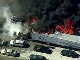 Californie. Vidéo : un gigantesque incendie a fait évacuer une autoroute
