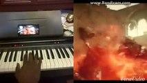 Avengers AoU Battle on Piano thru Google Glass