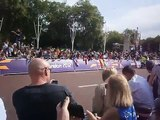 Olympic cycling road race start from the Victoria Memorial