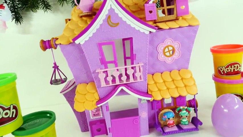 Play Doh Lalaloopsy Christmas Decorated Doll House Playdough Muñeca casa Plastilina DCTC
