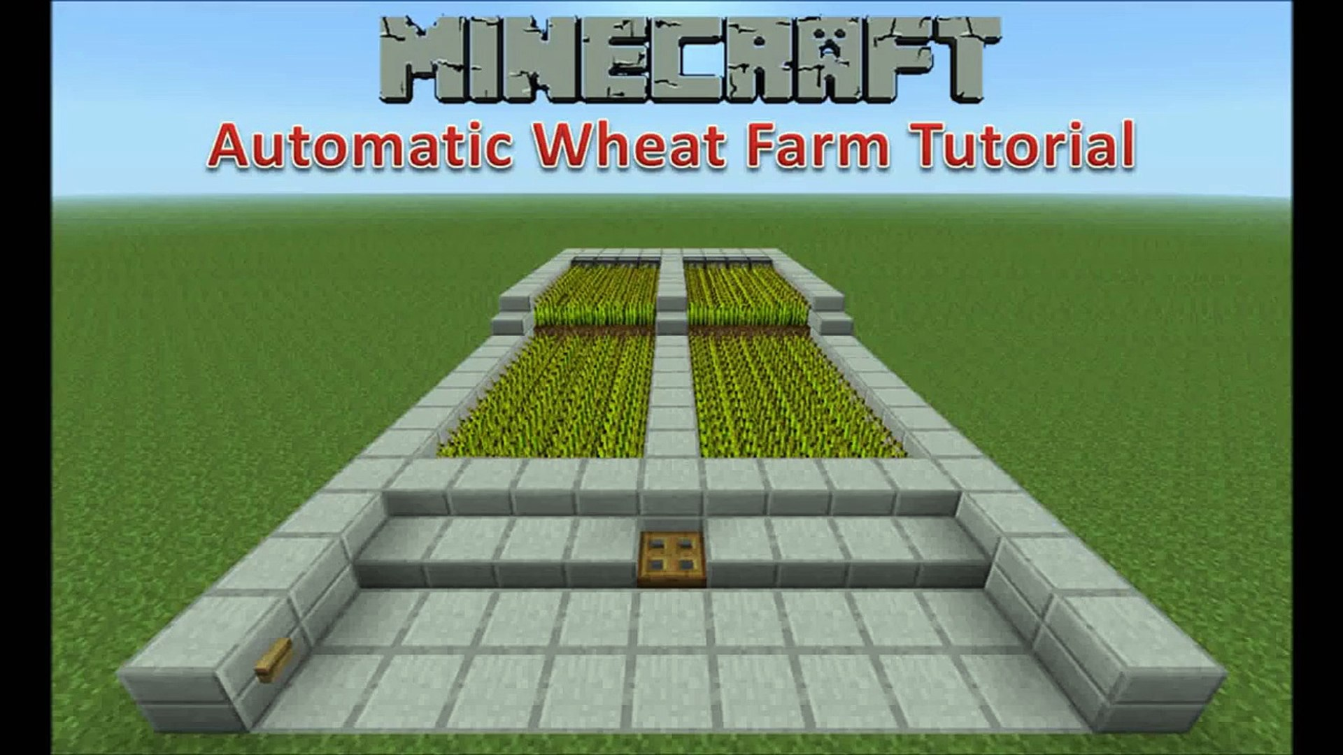 Minecraft Automatic Wheat Farm Tutorial Video Dailymotion