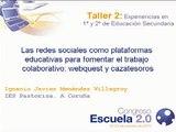 Las redes sociales como plataformas educativas para fomentar el trabajo colaborativo