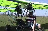 Quicksilver Ultralight Light Sport Airplane - Yellow Quicksilver Sprint II Flight - http://www.quick