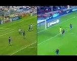 Messi imita el mejor gol de la historia de Maradona