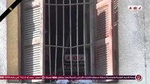 بلطجيه يسرقون محتويات محكمة الاسره بعد حرقها ببني سويف
