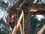 Timber Framing Barn Raising by Preservation Timber Framing