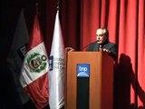 Hugo Neira en inauguracion de Teatro Mario Vargas Llosa